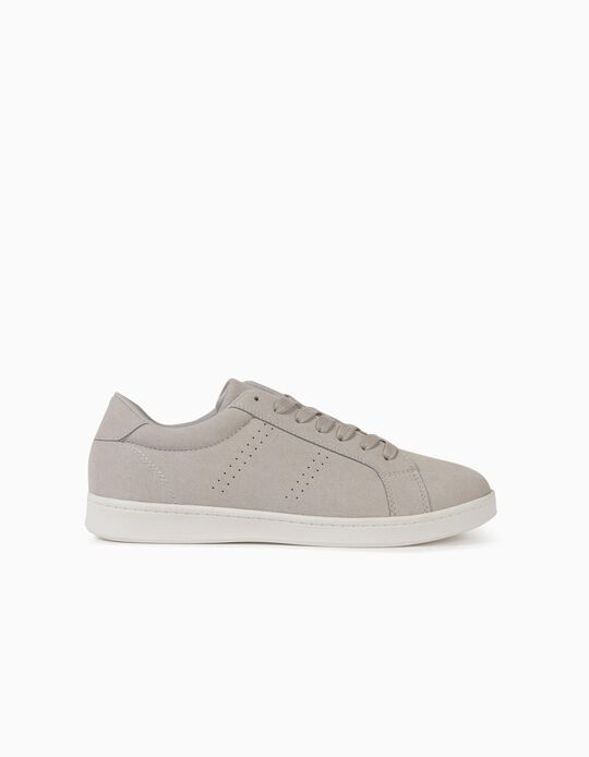 Grey Suedette Trainers, for Women