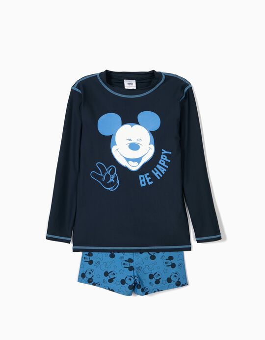 Conjunto de Banho para Menino 'Mickey' Anti-UV 80, Azul