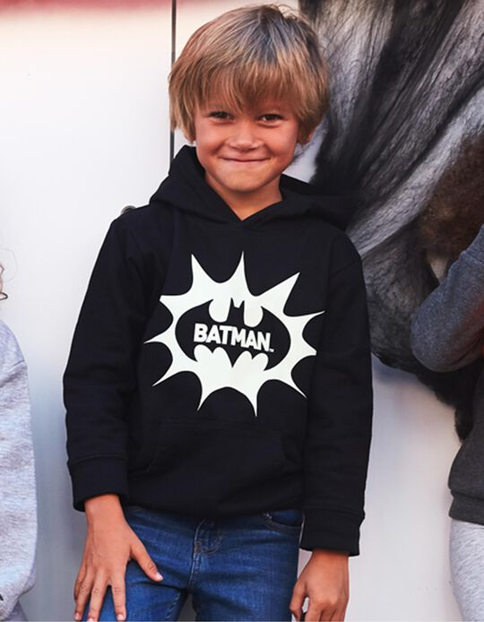 Hoodie for Boys 'Batman', Black