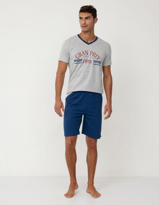 Pyjamas for Men, Grey/ Blue