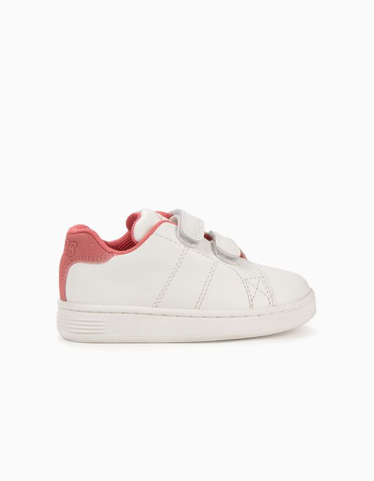 Sneakers for Baby Girls 'ZY 1996', White and Pink