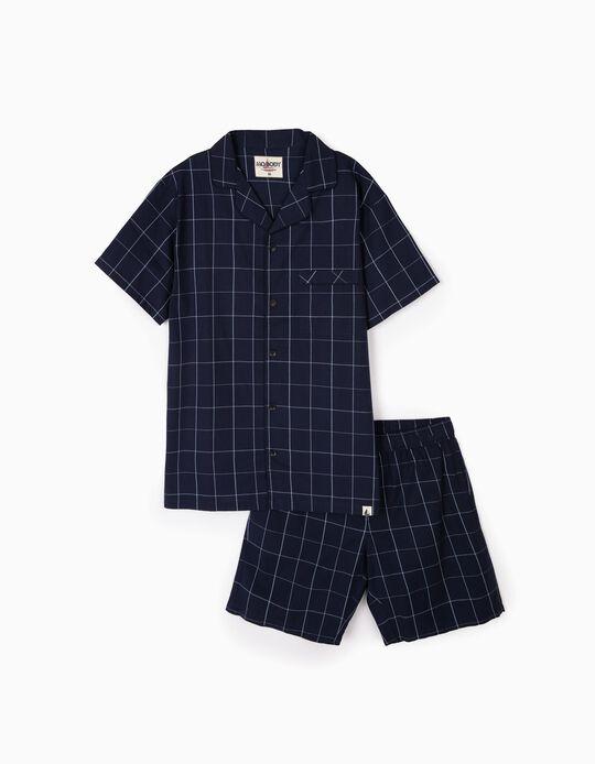 Pijama camiseiro quadrados