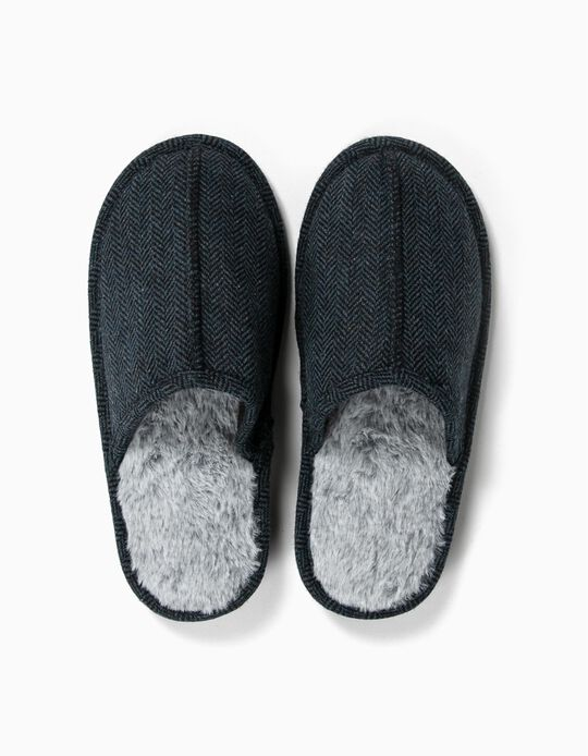 Bedroom Slippers, Herringbone