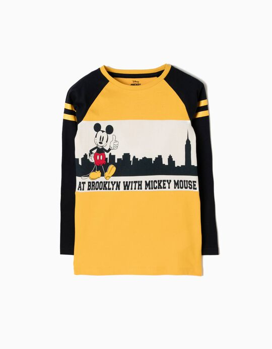 Long-Sleeved T-Shirt, Mickey Brooklyn