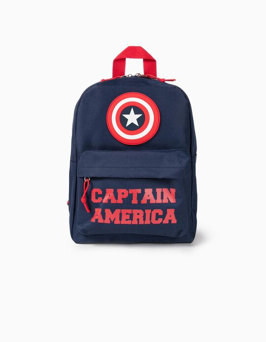 'Captain America' Backpack for Boys, Dark Blue