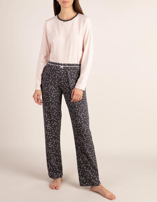 Pijama bicolor com estampado