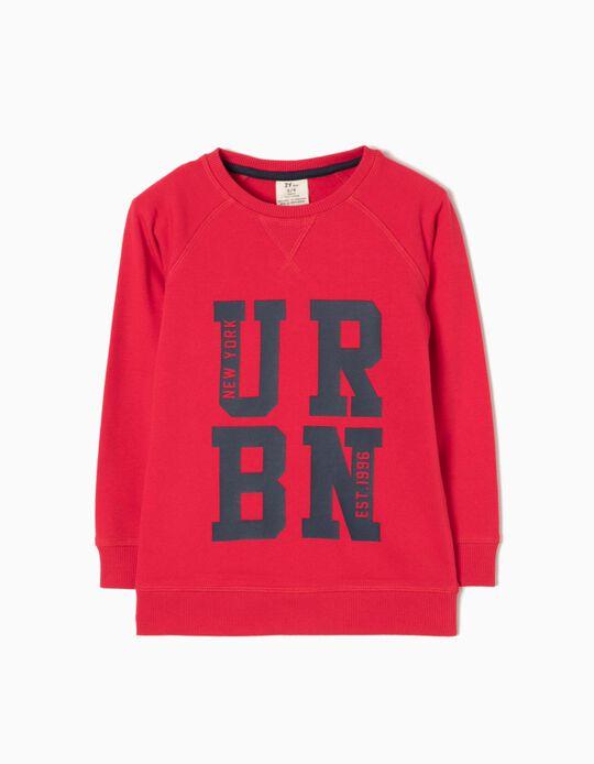Sweatshirt New York  Vermelha
