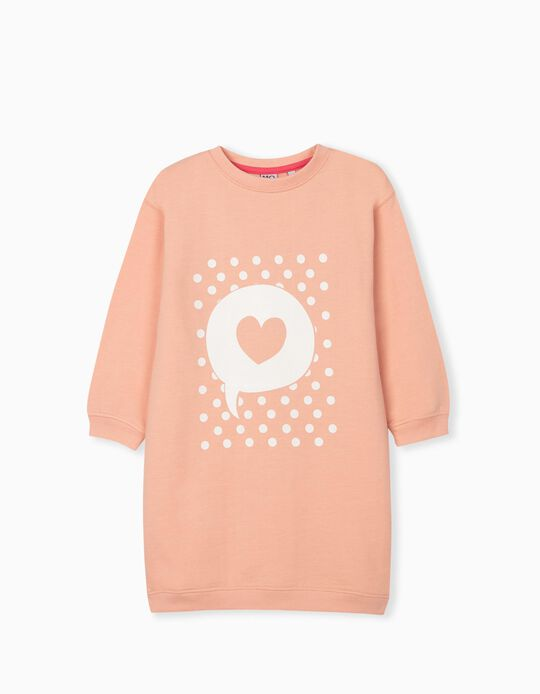 Carded Dress for Girls, Coral