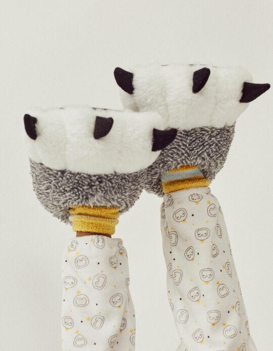 Pantufas para Criança 'Paws', Cinza