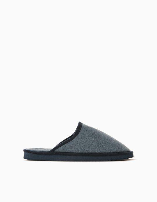 Bedroom Slippers for Men, Blue