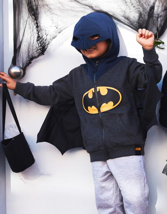 Jacket with Mask and Wings for Boys 'Batman', Grey/Blue