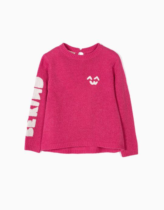 Camisola de Malha para Menina 'Be Kind', Rosa