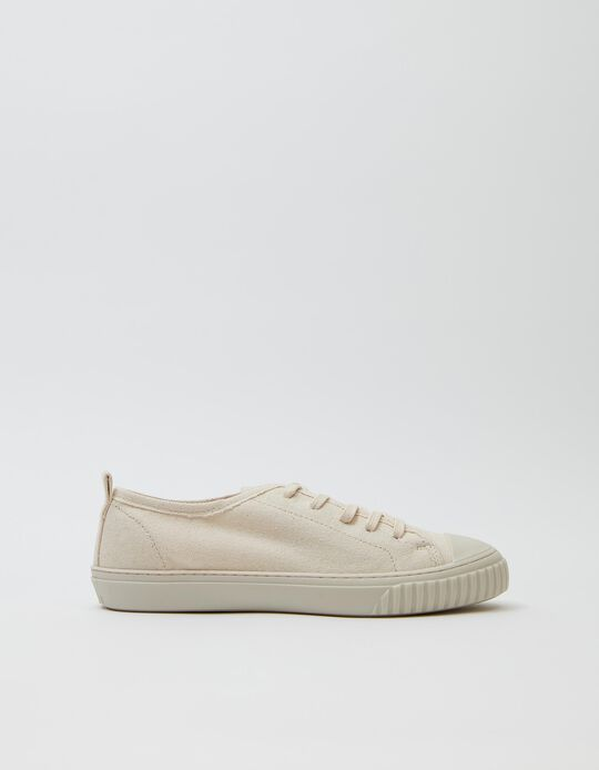 Recycled Cotton Trainers, Women, White