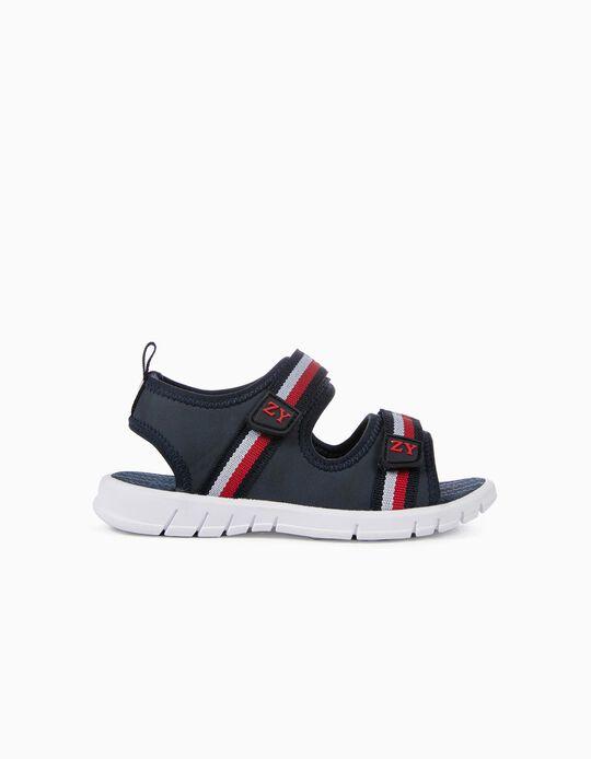 Sandálias para Menino 'Riscas', Azul Escuro