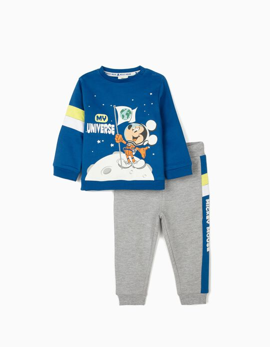Fato de Treino para Bebé Menino 'Mickey - My Universe', Azul/Cinza