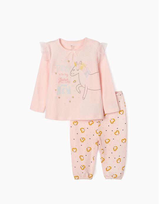 Pyjamas for Baby Girls, 'Unicorn', Pink
