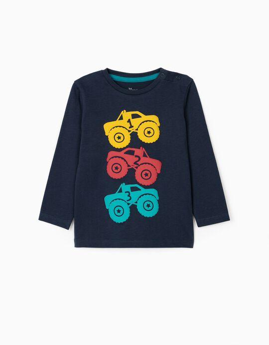 Long sleeve T-Shirt for Baby Boys 'Trucks', Dark Blue