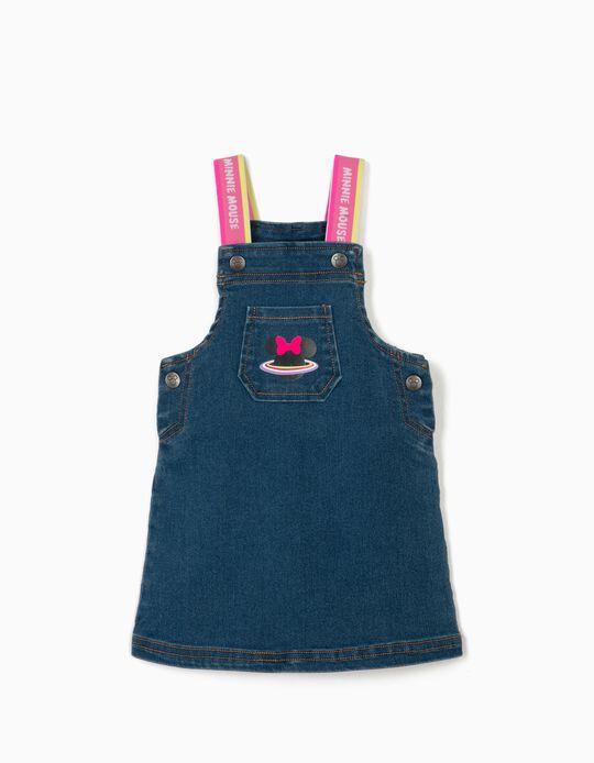 Saia de Peito Ganga para Bebé Menina 'Minnie Mouse', Azul