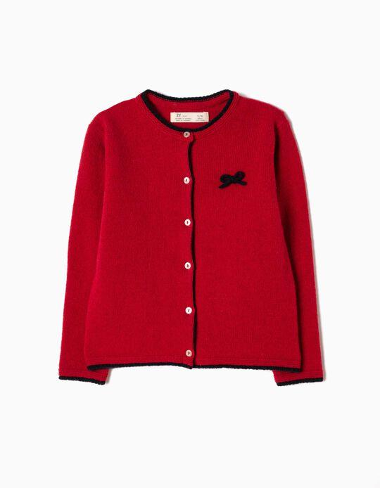 Casaco de Malha Lã Vermelho