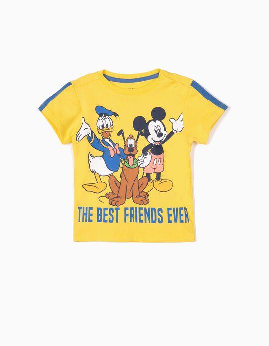 T-shirt para Bebé Menino 'Mickey & Friends', Amarelo