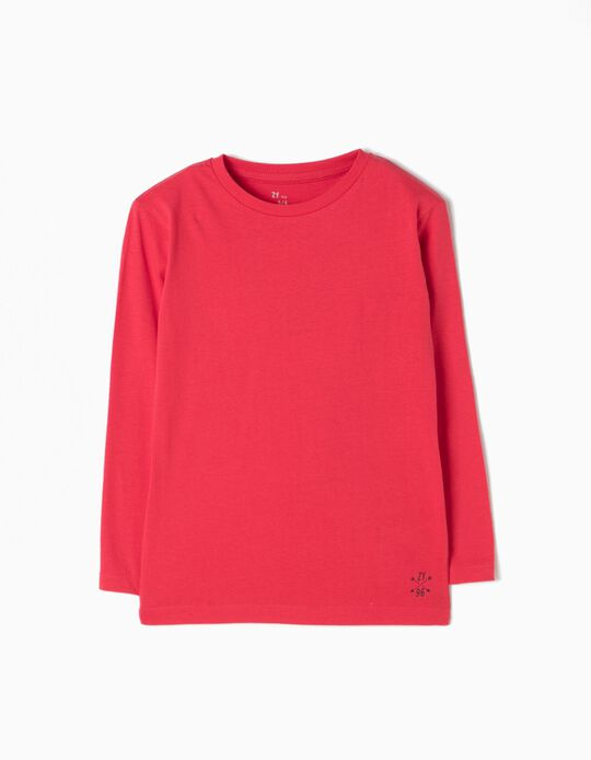 Long Sleeve Top for Boys, Red