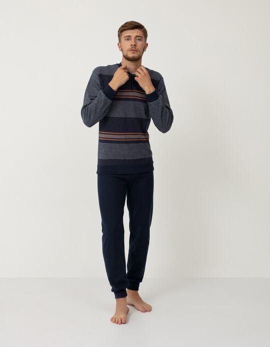 Pijama Suave, Homem, Azul