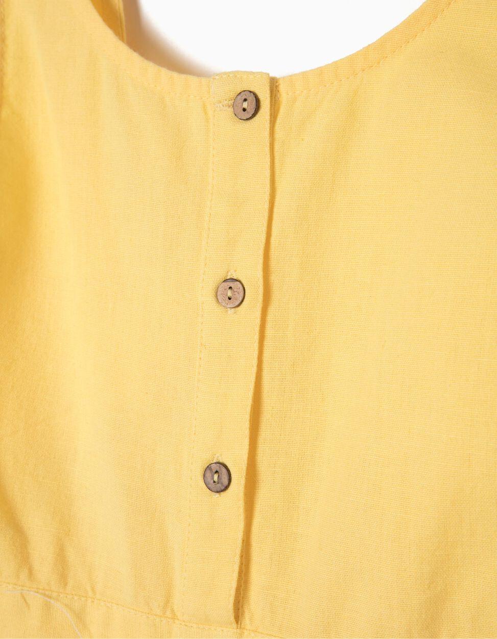 Macacão de Linho Amarelo