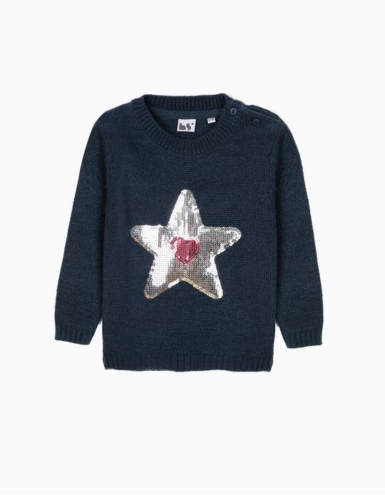 Camisola com estrela em lantejoulas