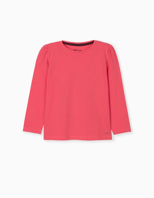 Long Sleeve Top for Girls, Pink