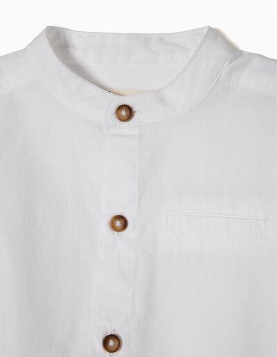 Body-Camisa com Botões em Contraste