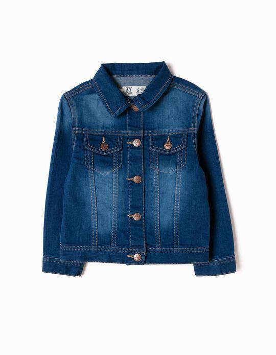 Denim Jacket for Girls, Blue