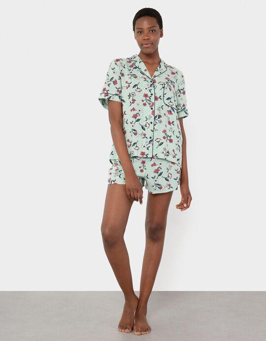 Floral Shirt Pyjamas, Women