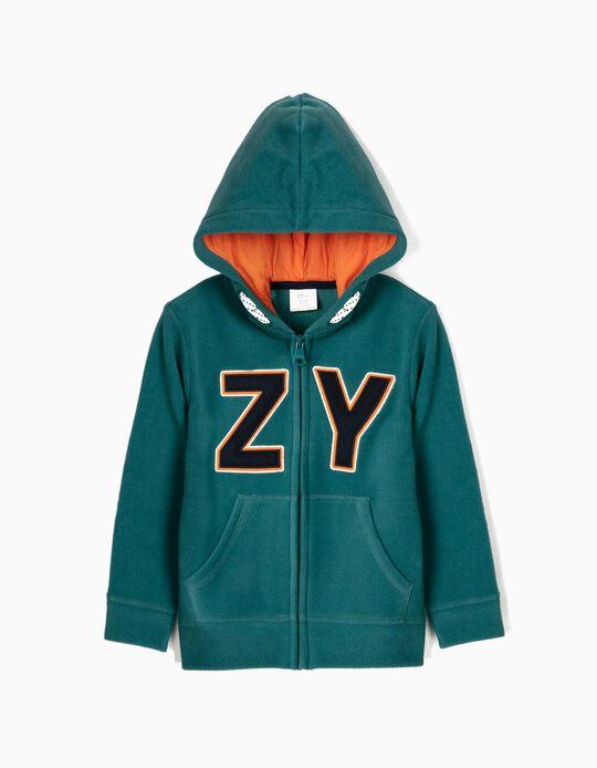 Polar Fleece Jacket for Boys 'ZY 96', Green