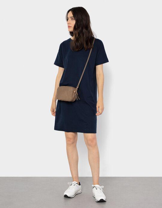 Knitted Dress for Women, Dark Blue