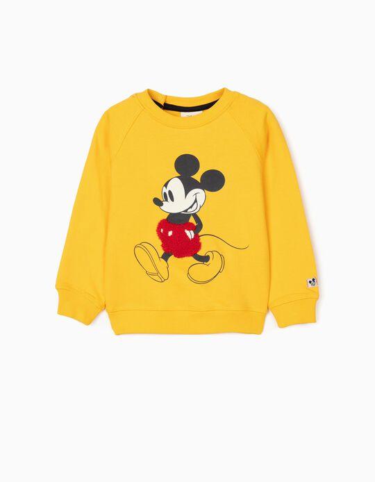 Sweatshirt para Bebé Menino 'Mickey', Amarelo