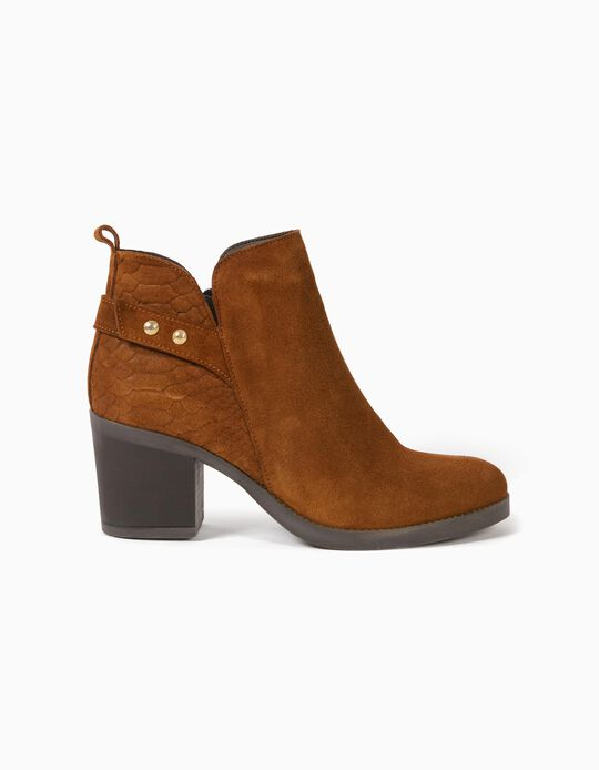 Suedette Ankle Boots, Made in Portugal