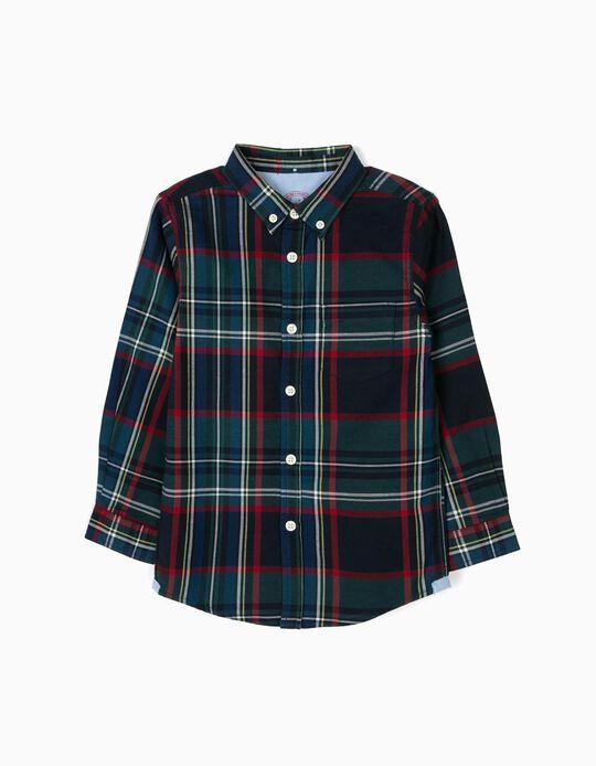 Camisa em tartan
