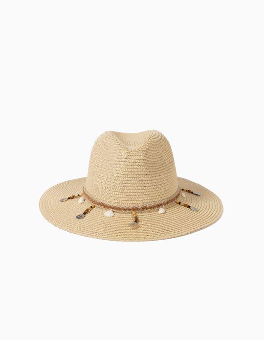 Chapéu de Palha com Missangas, Mulher