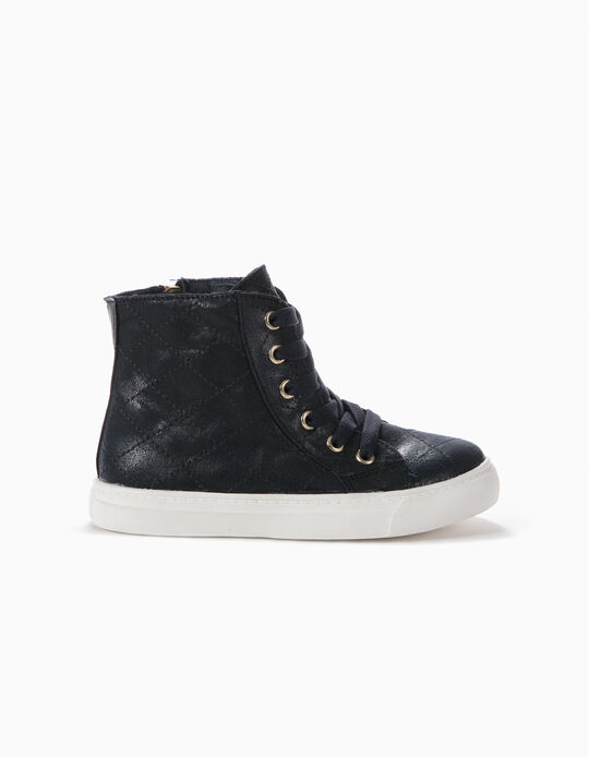 Padded High-Top Trainers for Girls