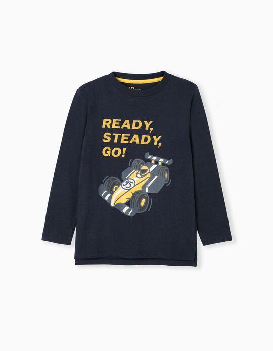 T-Shirt, Menino, Azul Escuro