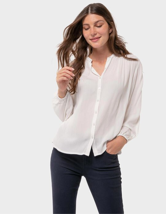 Loose-Fitting Blouse with Darts