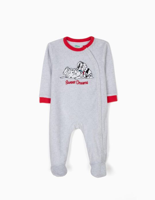 Babygrow Polar 101 Dálmatas Cinza e Vermelho