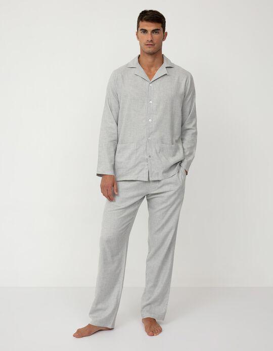 Pijama Camiseiro, Homem, Cinza