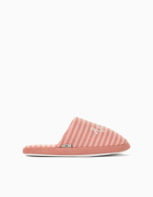 Padded Bedroom Slippers for Women, Pink