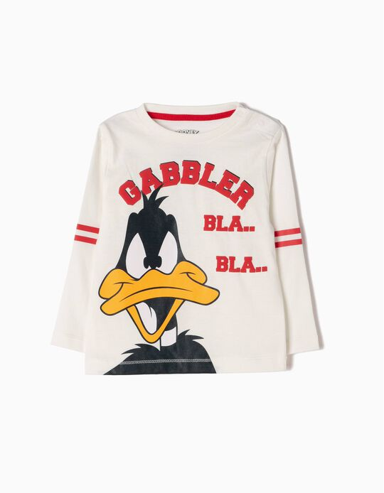 White Long-Sleeved Top, Daffy Duck