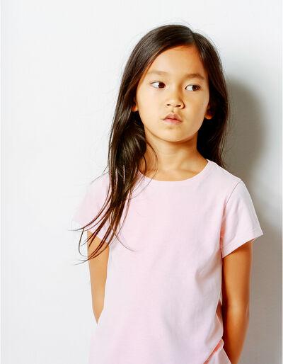 T-shirt Básica Rosa Claro