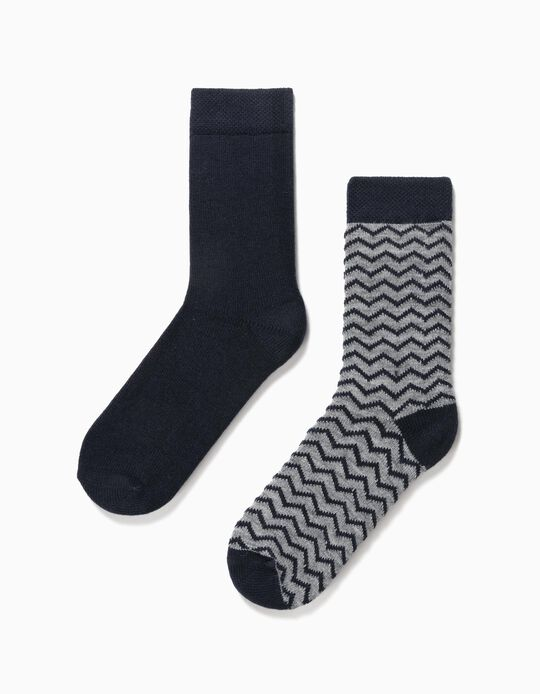 2 Pairs Woollen Socks, for Men