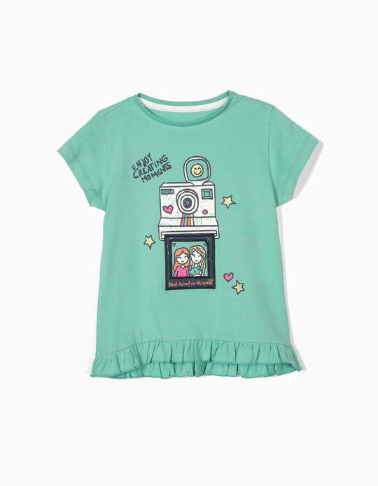 T-shirt para Menina 'Creating Moments', Verde