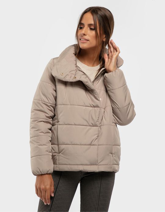 Padded jacket with collar