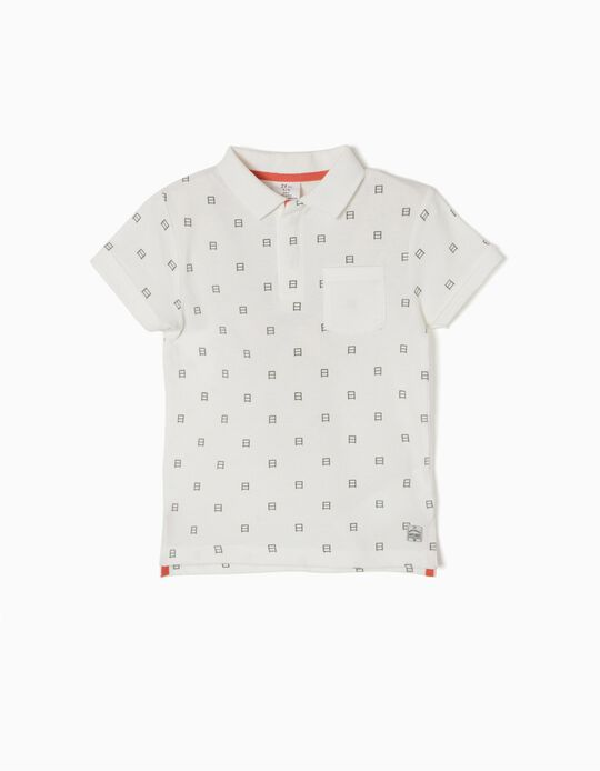 White Short-Sleeved Polo-Shirt, Japan